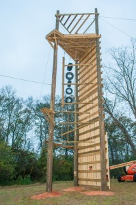 completed high ropes tower