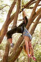 Ami French leads a Yoga Adventure Camp