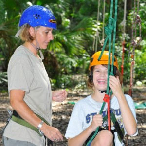 Amy teaching tree climbing