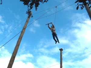 Leap Of Faith at High Ropes Adventure Camp