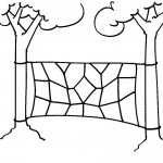 Low Ropes Elements - Spider's Web Drawing