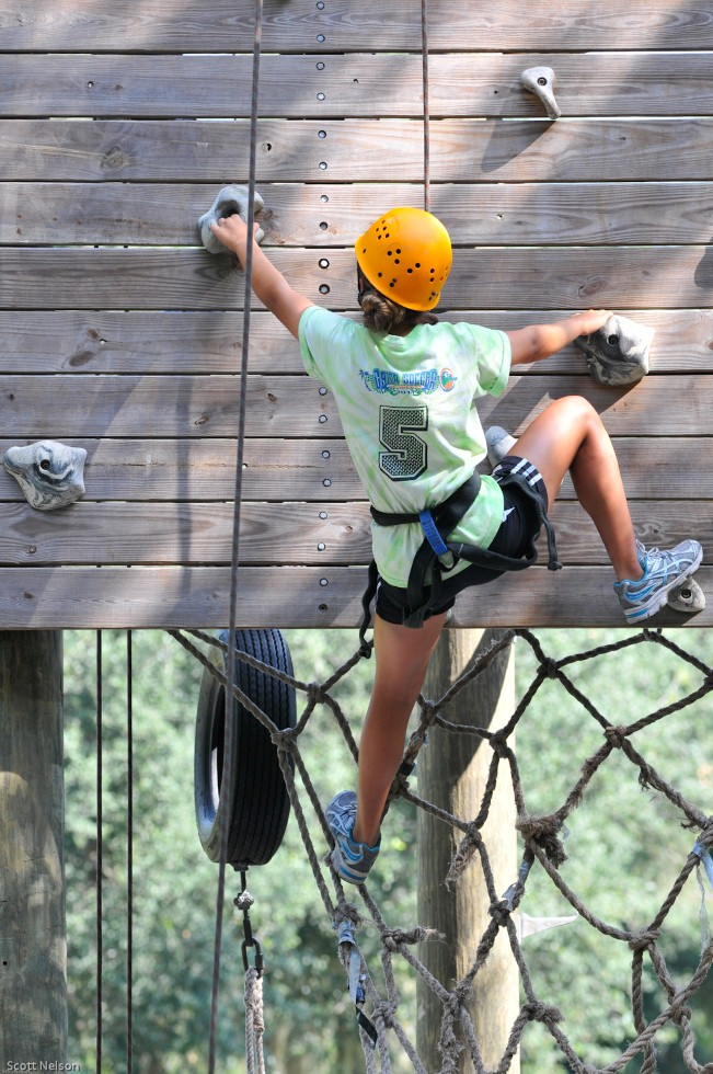 High Ropes Element - Rock Climbing Wall