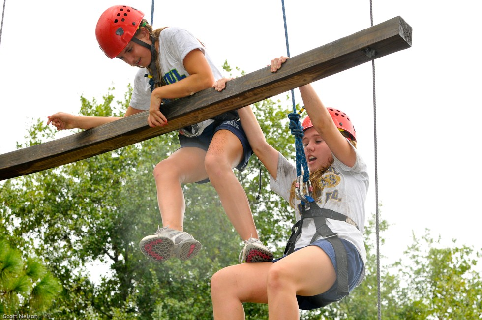 Duo Dangle High Ropes Team Building